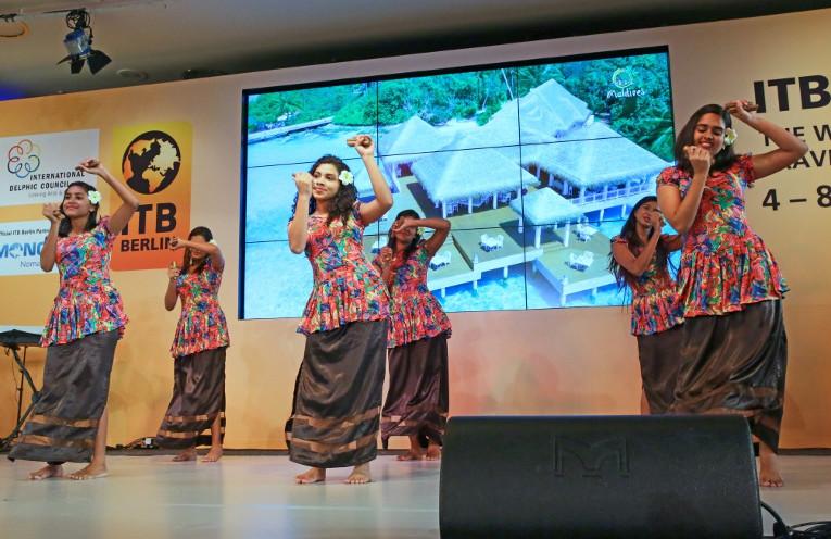 Fathigandu, maledivischer Volkstanz auf der  ITB 2015