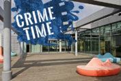 Collage - Foto: Burkhard Katz, Logo Crime Time, Stilwerk Berlin